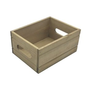 Light Oak Rustic Condiment Box 216x166x103