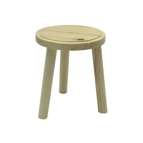 Natural Rustic Pine Milking Stool 170Dx205