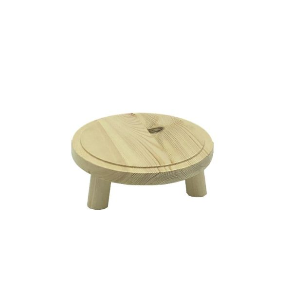 Natural Rustic Pine Milking Stool 170Dx65