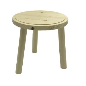 Natural Rustic Pine Milking Stool 210Dx205