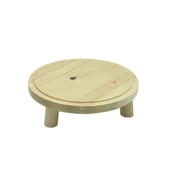 Natural Rustic Pine Milking Stool 210Dx65