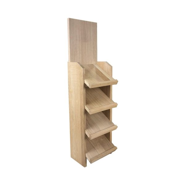 Oak Slanted 4-Tier Display Stand 167x190x700