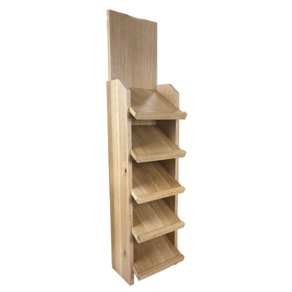Oak Slanted 5-Tier Display Stand 167x190x820