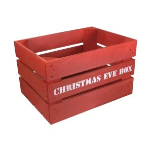 Red Christmas Eve Box Crate 300x370x250 front