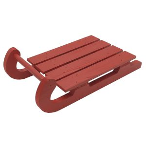 Red Painted Christmas Sled 400x205x110