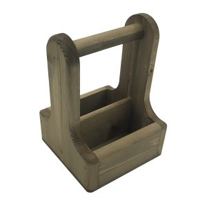 Rustic Brown Rustic Pine Condiment Caddy 170x170x230