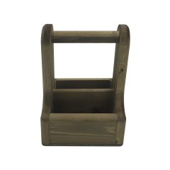 Rustic Brown Rustic Pine Condiment Caddy 170x170x230 side view