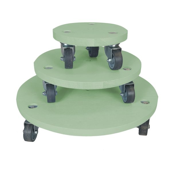 Tetbury Green painted round pot stand set