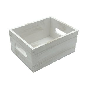 White Distressed Painted Condiment Box 216x166x103