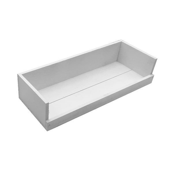 White Painted Drop Front Tray 375x145x80