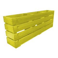 Yellow Painted Mini 3 Bin Impulse Merchandise Display Stand 1000x180x360