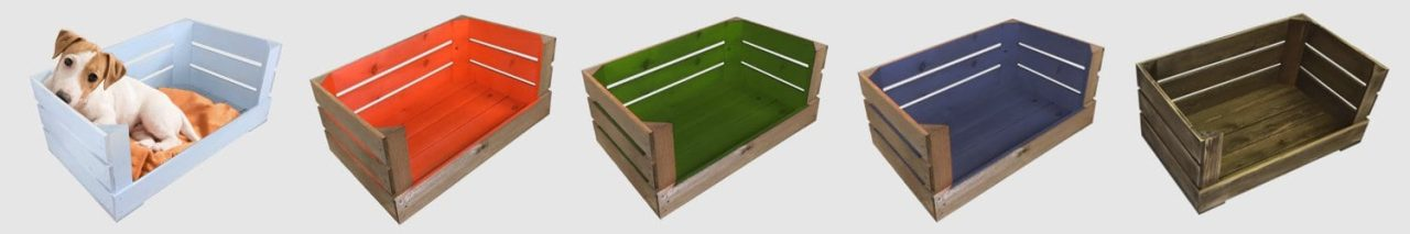 wooden crate dog beds