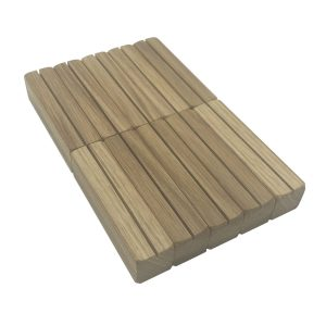 oak ticket holder with vertical slot 100x25x25 10 pack