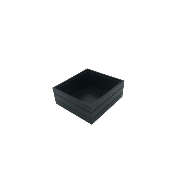 B1/6 Ribbed Black Oak Trolley Stacker box 212x199x80