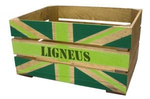500mm rustic eco green jack crate angled