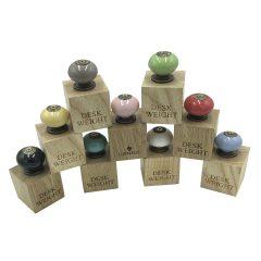 ceramic knob handle desk weights