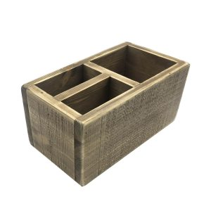 Painswick Rustic 3 Compartment Cutlery & Condiment Holder 290x160x140