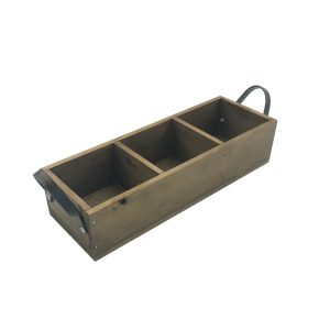 Looped Handle Rustic 3 compartment Tray 350x120x80