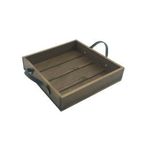 Looped Handle Rustic Tray 250x250x53