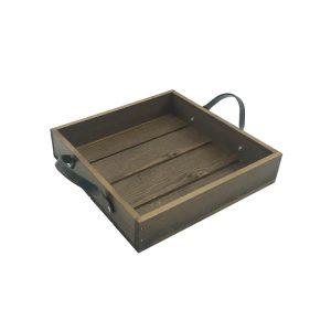 Looped Handle Rustic Tray 250x250x53