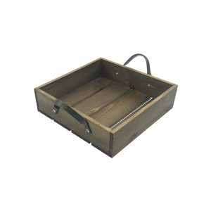 Looped Handle Rustic Tray 250x250x65