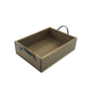 Looped Handle Rustic Tray 280x210x80