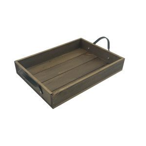 Looped Handle Rustic Tray 330x240x53