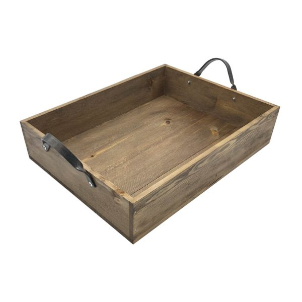 Looped Handle Rustic Tray 375x290x80