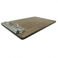 Rustic Oak Bill Presenter 205x133x6 angle