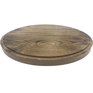 Scorched Oak Cake Board 305Dx18 angled