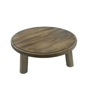 Scorched Pine Milking Stool 305Dx140