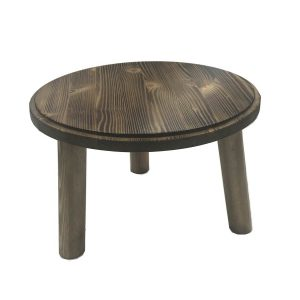 Scorched Pine Milking Stool 305Dx210