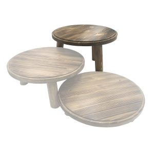 Scorched Pine Milking Stool 305Dx210 in set