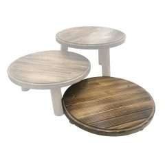 Scorched Pine Milking Stool 305Dx70 in set
