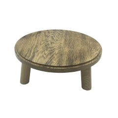 Scorched oak Milking Stool 305Dx140