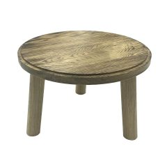 Scorched oak Milking Stool 305Dx210