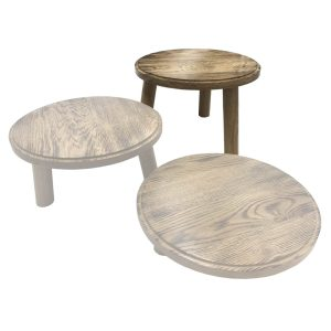 Scorched oak Milking Stool 305Dx210 in set