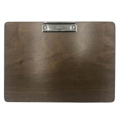 A4 Landscape Rustic Brown Ply clipboard with clip 320x230x6