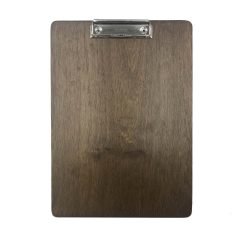 A4 Portrait Rustic Brown Ply clipboard with clip 230x320x6