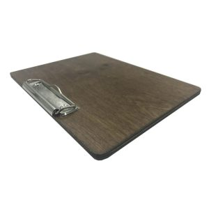 A5 Landscape Rustic Brown Ply clipboard with clip 175x230x6 angled