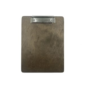 A5 Portrait Rustic Brown Ply clipboard with clip 175x230x6