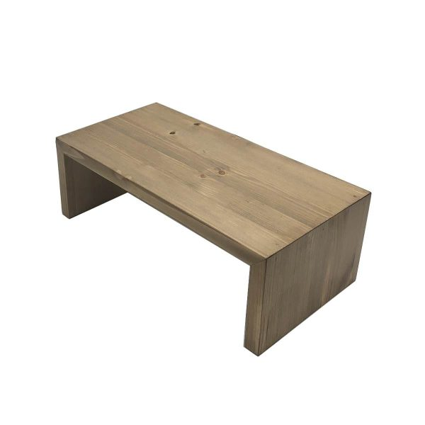 Light Oak Rustic Pine Square Riser 350x180x120
