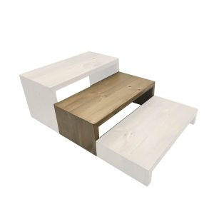 Light Oak Rustic Pine Square Riser 350x180x120 in set