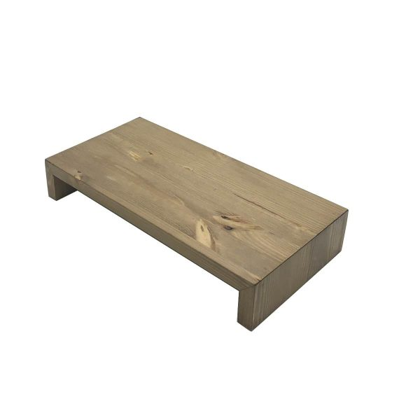 Light Oak Rustic Pine Square Riser 350x180x60