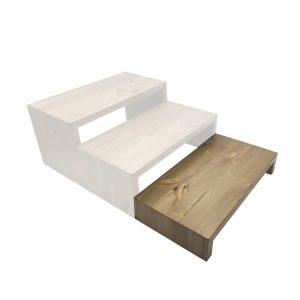 Light Oak Rustic Pine Square Riser 350x180x60 in set