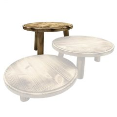 Scorched Painswick Milking Stool 305Dx210 in set
