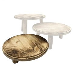 Scorched Painswick Milking Stool 305Dx70 in set