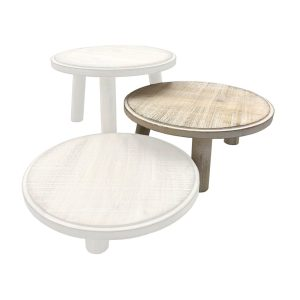 White Painswick Milking Stool 305Dx140 in set