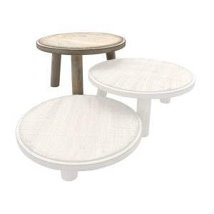 White Painswick Milking Stool 305Dx210 in set