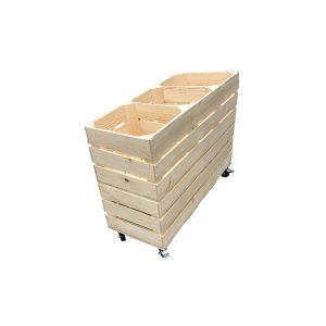 Natural Rustic 3 Bin Impulse Merchandise Paddock Display Stand 900x300x600